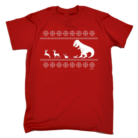 123t Men's Christmas Lunch For T-Rex Funny T-Shirt