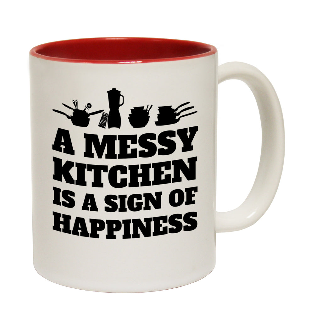 123t A Messy Kitchen Is A Sign Of Happiness Funny Mug - 123t clothing gifts presents