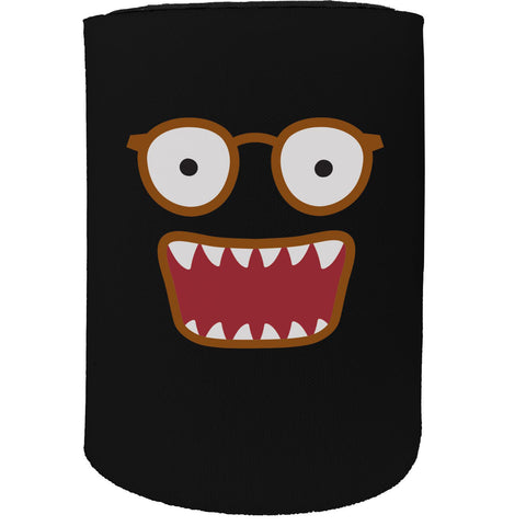 123t Stubby Holder - Mouths Glasses - Funny Novelty Birthday Gift Joke Beer Can Bottle Coolie Koozie