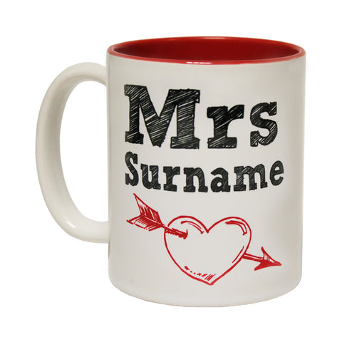 123t Mrs Surname ... Personalized Design Funny Mug