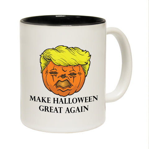 Funny Mugs - Trumpkin - Joke Birthday Gift Birthday Pun BLACK NOVELTY MUG