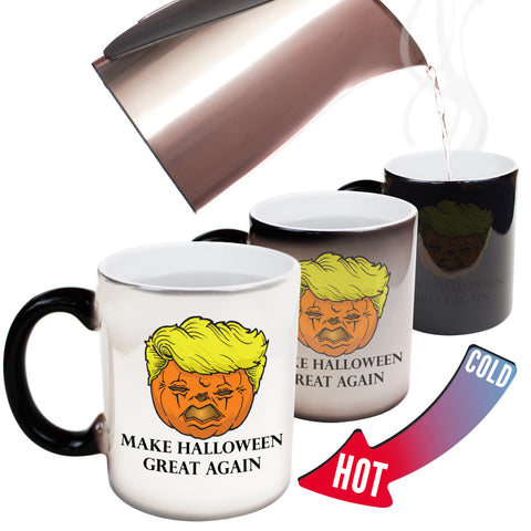 Funny Mugs - Trumpkin - Joke Birthday Gift Birthday Pun COLOUR CHANGING NOVELTY MUG