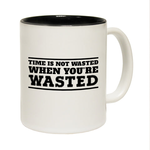 Funny Mugs - Times Not Wasted - Joke Birthday Gift Birthday Pun BLACK NOVELTY MUG