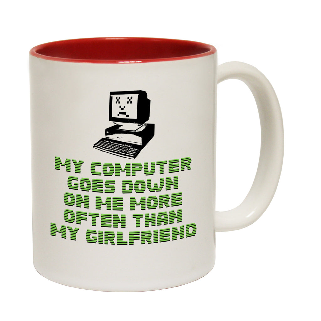 123t My Computer Goes Down On Me More Often Than My Girlfriend Funny Mug