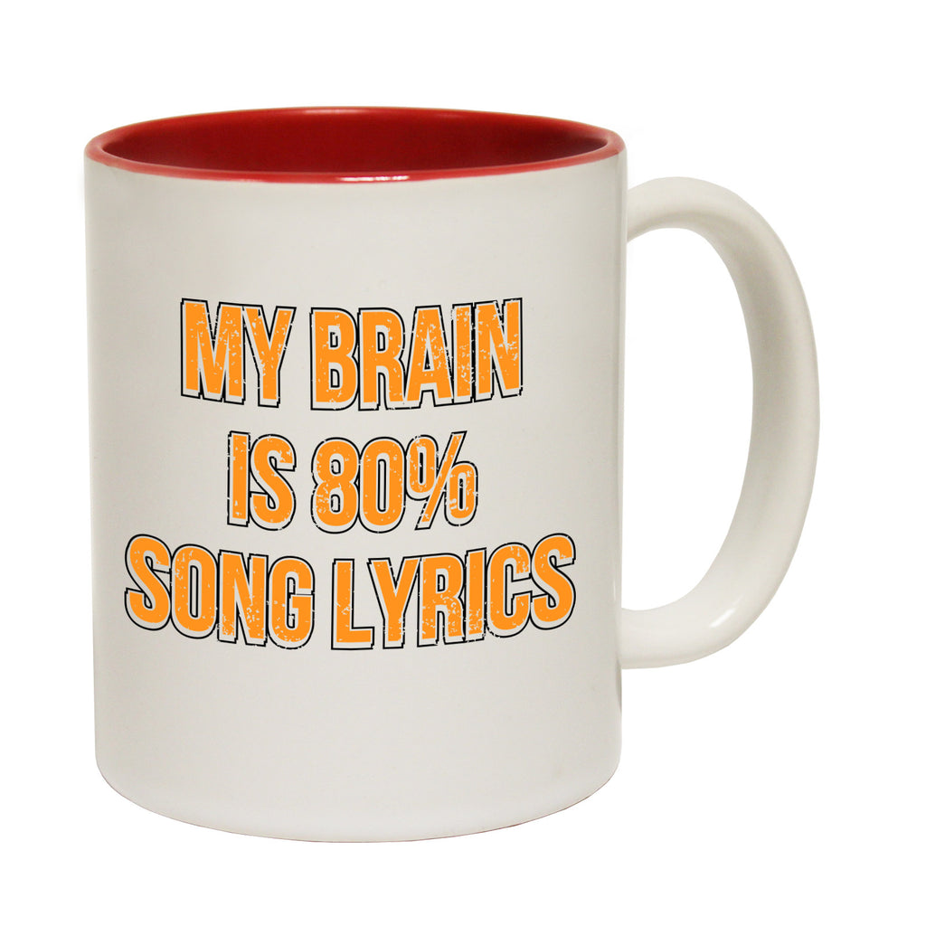 Banned Member My Brain Is 80% Song Lyrics Funny Mug