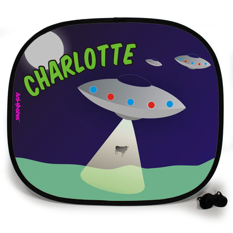 Ani-Mates Outta This World Abduction Personalised UV Protection Fun Vehicle Interior Window Car Sunshade