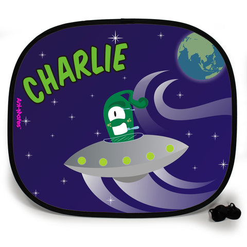 Ani-Mates Outta This World Earth Invasion Personalised UV Protection Fun Vehicle Interior Window Car Sunshade