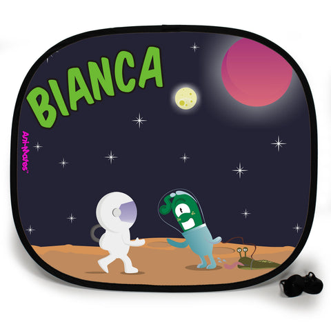 Ani-Mates Outta This World Greetings Personalised UV Protection Fun Vehicle Interior Window Car Sunshade