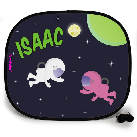 Ani-Mates Outta This World Space March Personalised UV Protection Fun Vehicle Interior Window Car Sunshade