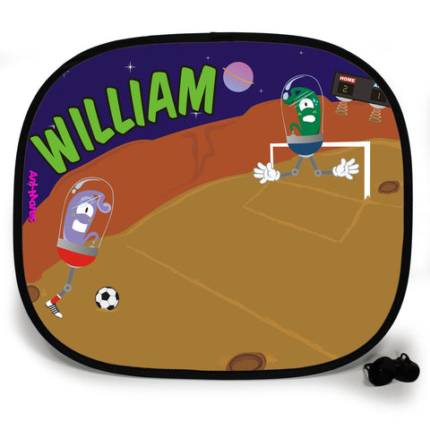 Ani-Mates Outta This World Football Personalised UV Protection Fun Vehicle Interior Window Car Sunshade
