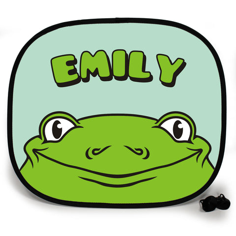 Ani-Mates Animals Frog Personalised UV Protection Fun Vehicle Interior Window Car Sunshade