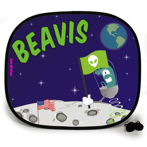 Ani-Mates Outta This World Lunar Landing Personalised UV Protection Fun Vehicle Interior Window Car Sunshade