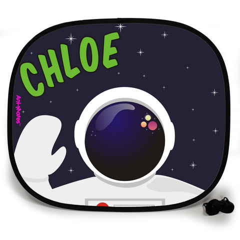 Ani-Mates Outta This World Astronaut Spaceman Personalised UV Protection Fun Vehicle Interior Window Car Sunshade