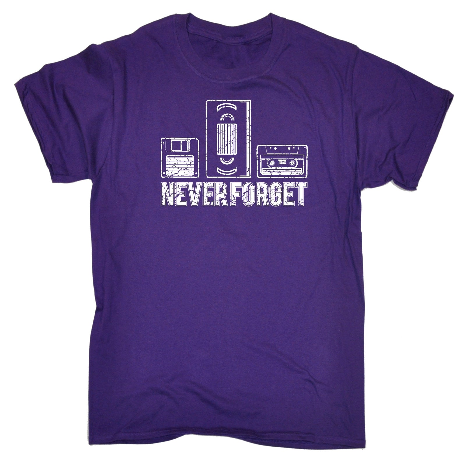 Never Forget Floppy Vhs Cassette T-SHIRT Retro 80S Video Tape Gift fathers day