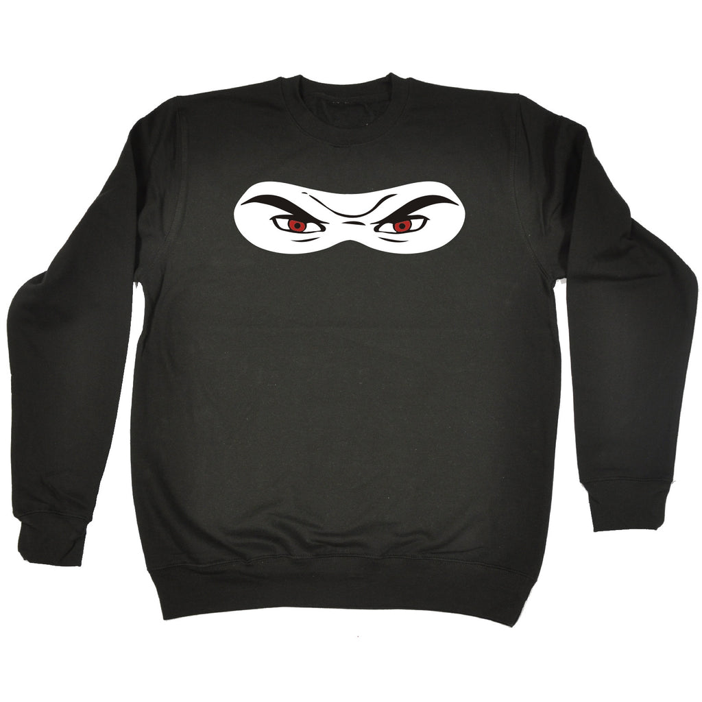 123t Ninja Eyes Design Funny Sweatshirt, 123t