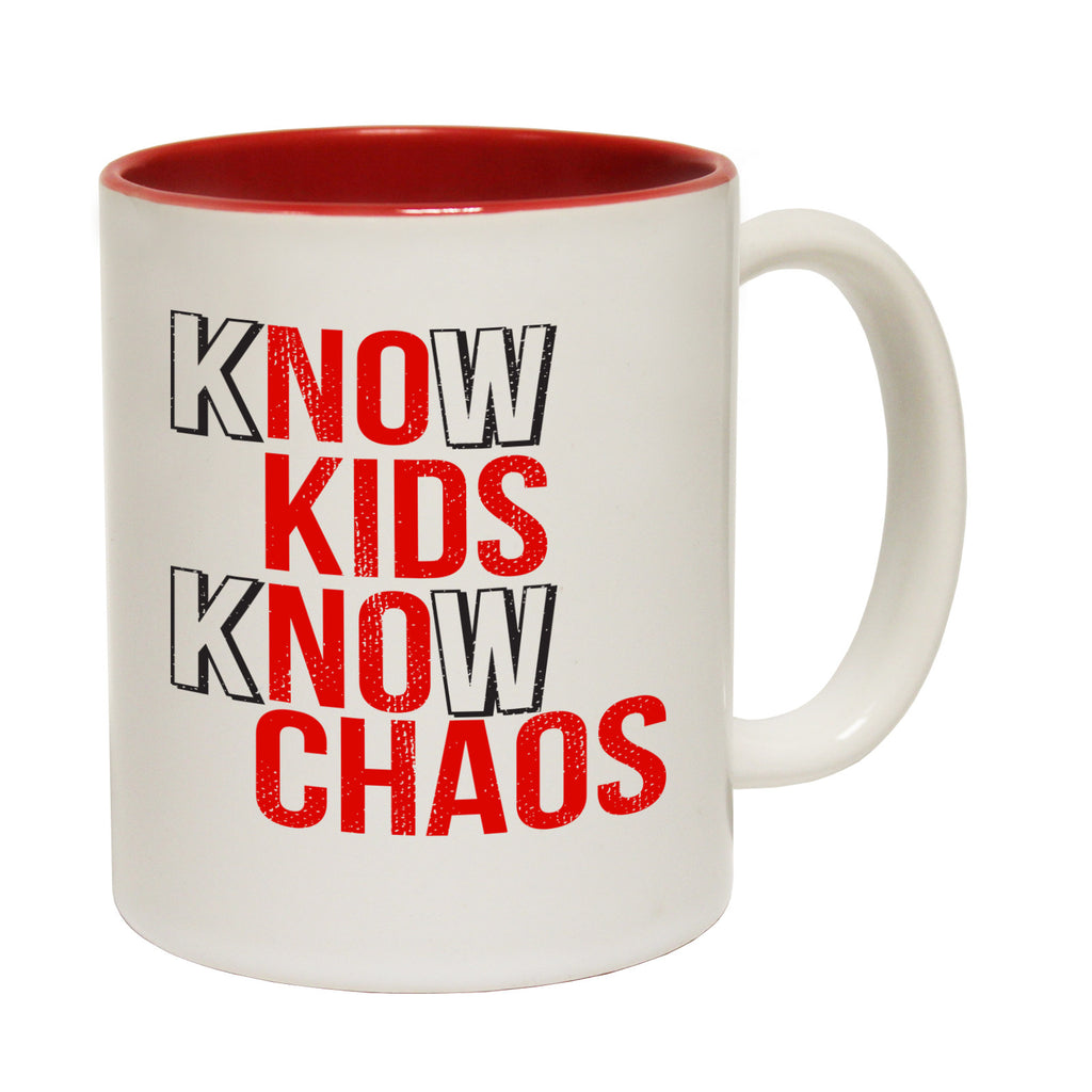 123t Know Kids Know Chaos Funny Mug