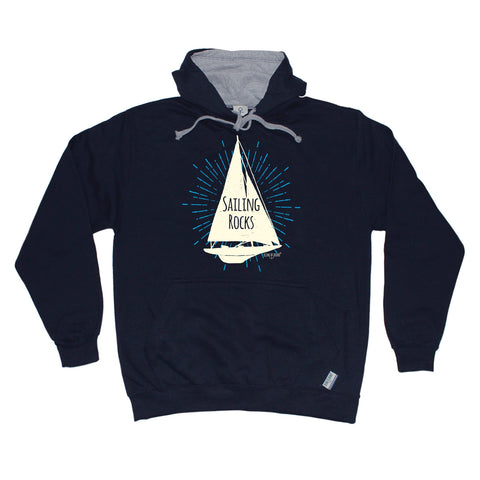 Ocean Bound Sailing Rocks Boat Design Sailing Hoodie