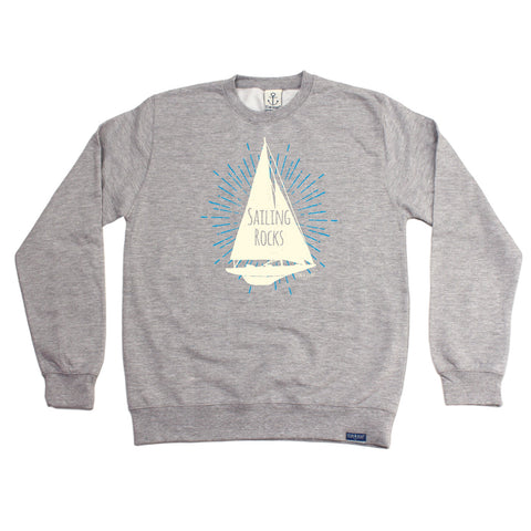 Ocean Bound Sailing Rocks Boat Design Sailing Sweatshirt