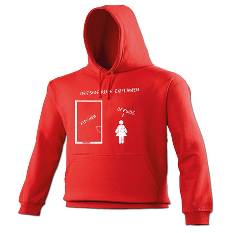 123t Offside Rule Explained Kitchen Offside Funny Hoodie