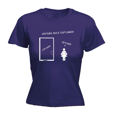 123t Women's Offside Rule Explained Kitchen Offside Funny T-Shirt