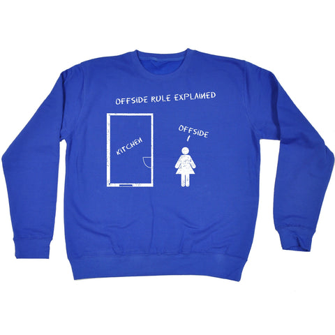 123t Offside Rule Explained Kitchen Offside Funny Sweatshirt
