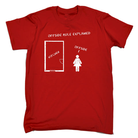 123t Men's Offside Rule Explained Kitchen Offside Funny T-Shirt
