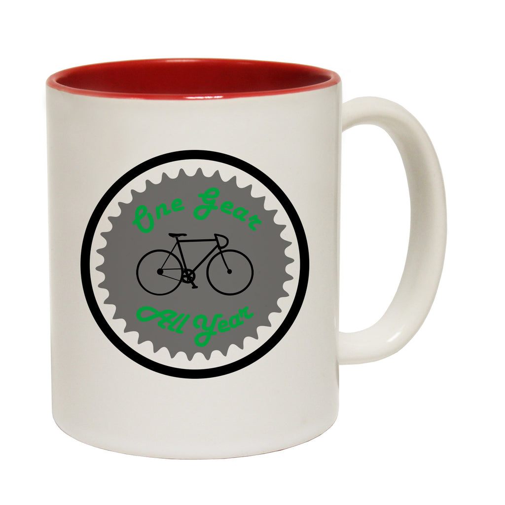 Ride Like The Wind One Gear All Year Funny Cycling Mug