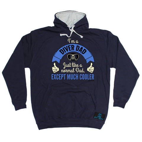 Open Water I'm A Diver Dad Like A Normal Dad Except Much Cooler Scuba Diving Hoodie