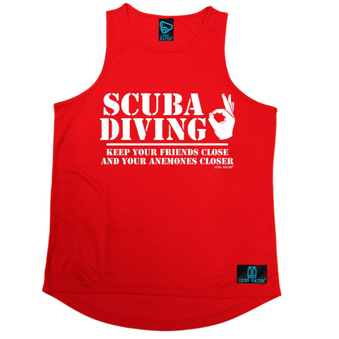 Open Water -  Scuba Diving Keep Your Friends Close Anemones Closer - MEN'S TRAINING VEST
