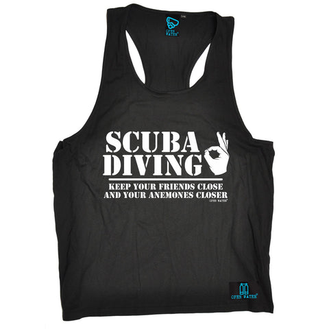 Open Water -  Men's Scuba Diving Keep Your Friends Close Anemones Closer - TANK TOP
