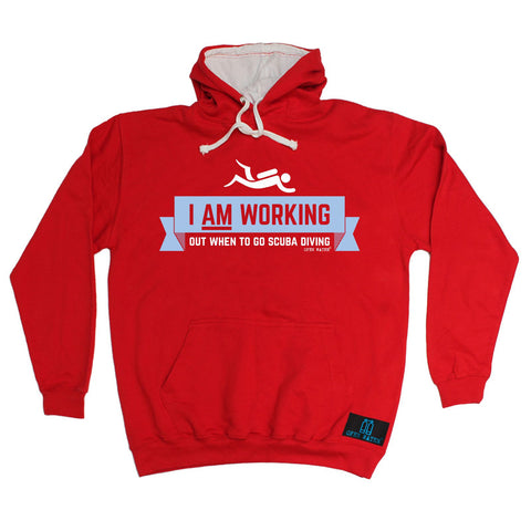 Open Water -   I Am Working Out When To Go Scuba Diving - HOODIE