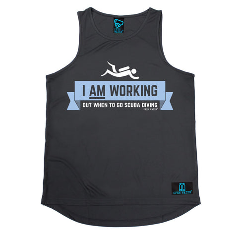 Open Water -  I Am Working Out When To Go Scuba Diving - MEN'S TRAINING VEST