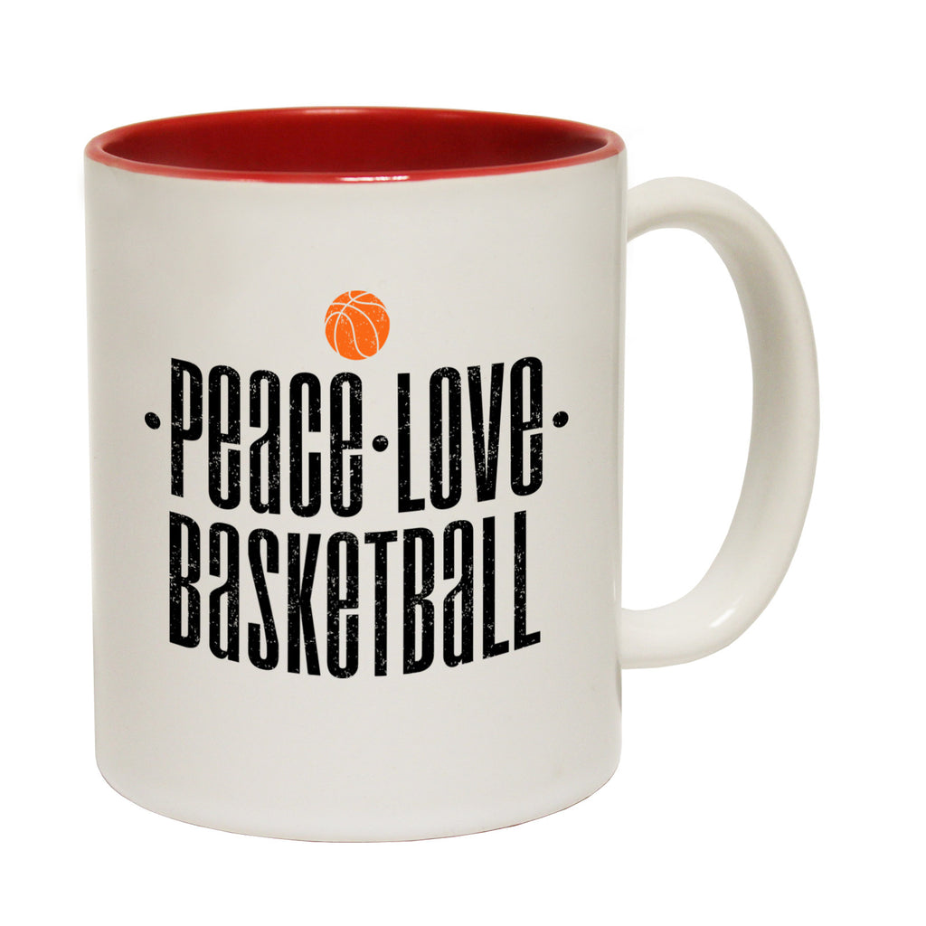 123t Peace Love Basketball Funny Mug, 123t Mugs