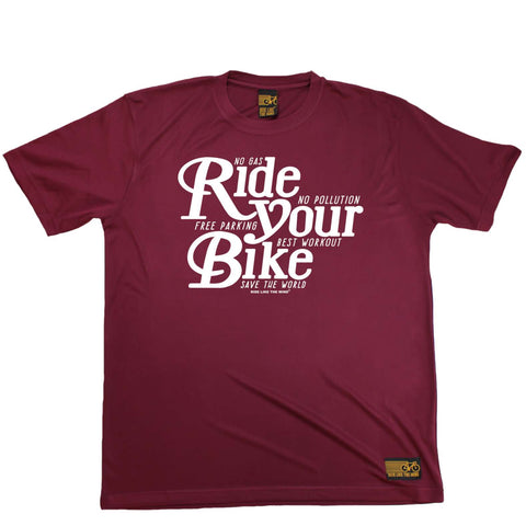 Ride Like The Wind Mens - Ride Your Bike - Cycling DRYFIT PERFORMANCE T-SHIRT