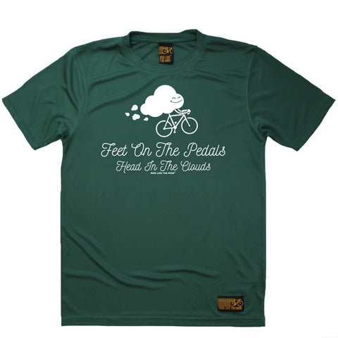 Ride Like The Wind Mens - Feet On The Pedals - Cycling DRYFIT PERFORMANCE T-SHIRT