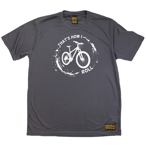 Men's RIDE LIKE THE WIND - Thats How I Roll - Premium Dry Fit Breathable Sports T-SHIRT - tee top cycling cycle bicycle jersey t shirt