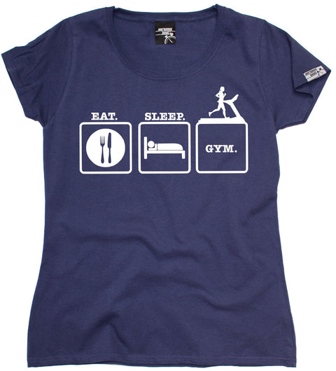 Personal Best Women's Eat Sleep Gym Training T-Shirt