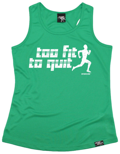 Personal Best Too Fit To Quit Running Girlie Training Vest