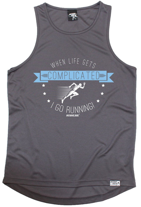 Personal Best When Life Gets Complicated I Go Running Men's Training Vest