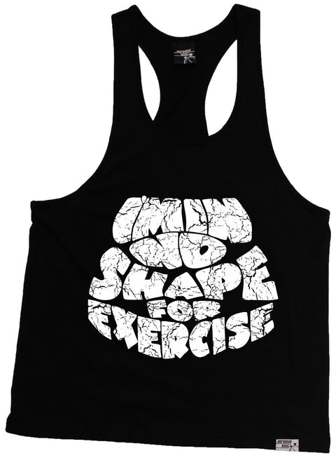 Personal Best I'm In No Shape For Exercise Running Men's Tank Top