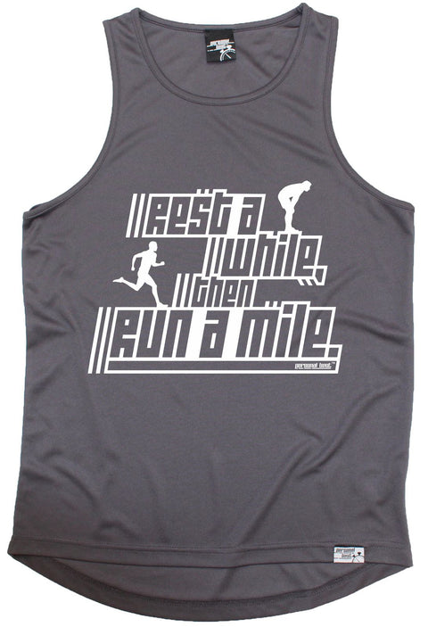 Personal Best Rest A While Then Run A Mile Running Men's Training Vest