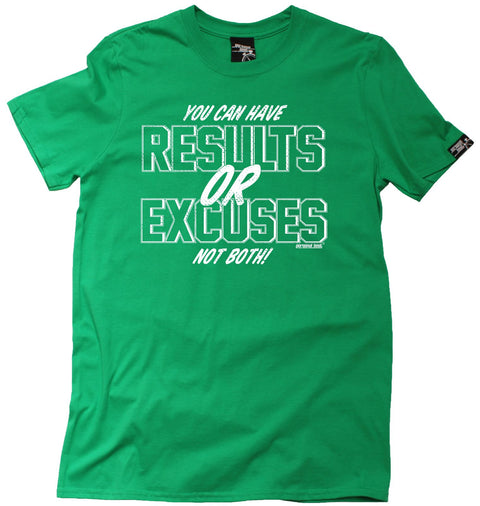Personal Best Men's You Can Have Results Or Excuses Running T-Shirt
