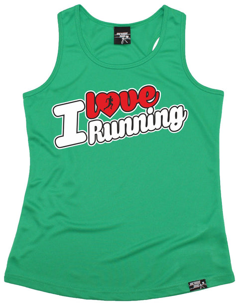 Personal Best I Love Running Girlie Training Vest