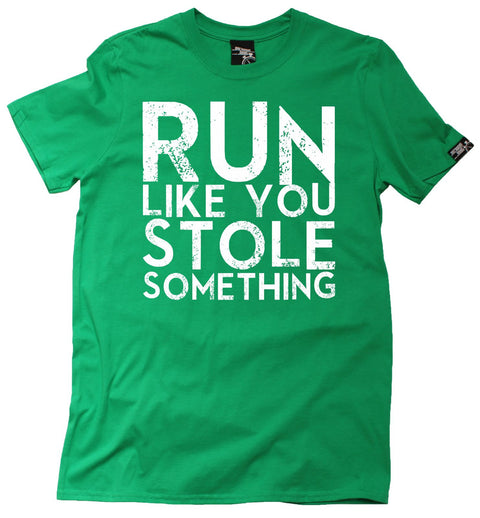 Personal Best Men's Run Like You Stole Something Running T-Shirt