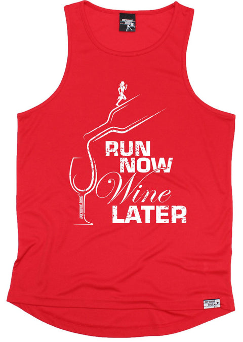 Personal Best Run Now Wine Later Running Men's Training Vest
