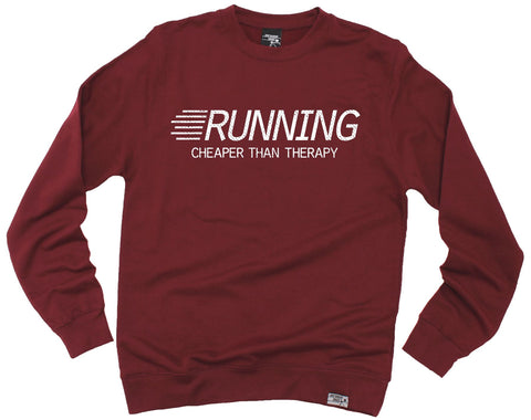 Personal Best Running Cheaper Than Therapy Sweatshirt