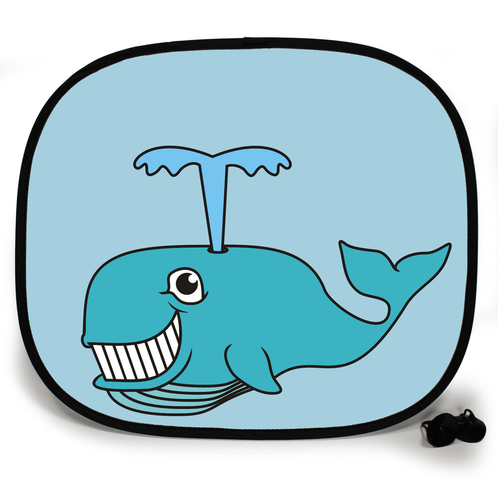 Ani-Mates Animals Whale Personalised UV Protection Fun Vehicle Interior Window Car Sunshade