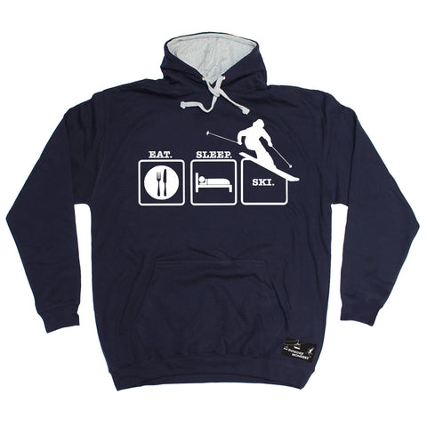Powder Monkeez Eat Sleep Ski Skiing Hoodie