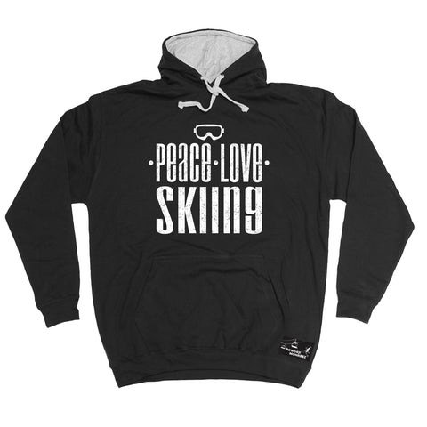 Powder Monkeez Peace Love Skiing Ski Hoodie