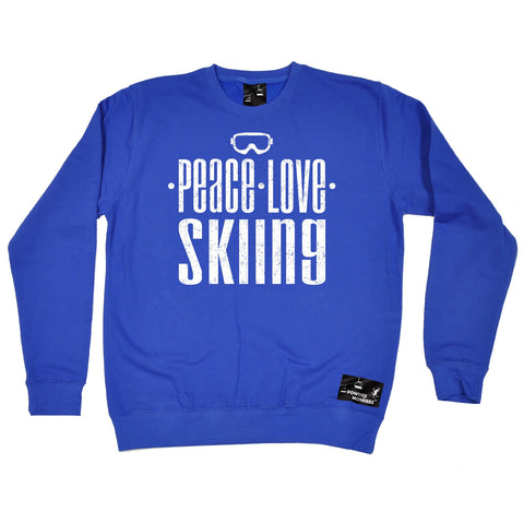 Powder Monkeez Peace Love Skiing Ski Sweatshirt